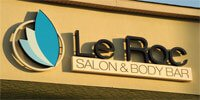 Le Roc Salon and Body Bar Sign